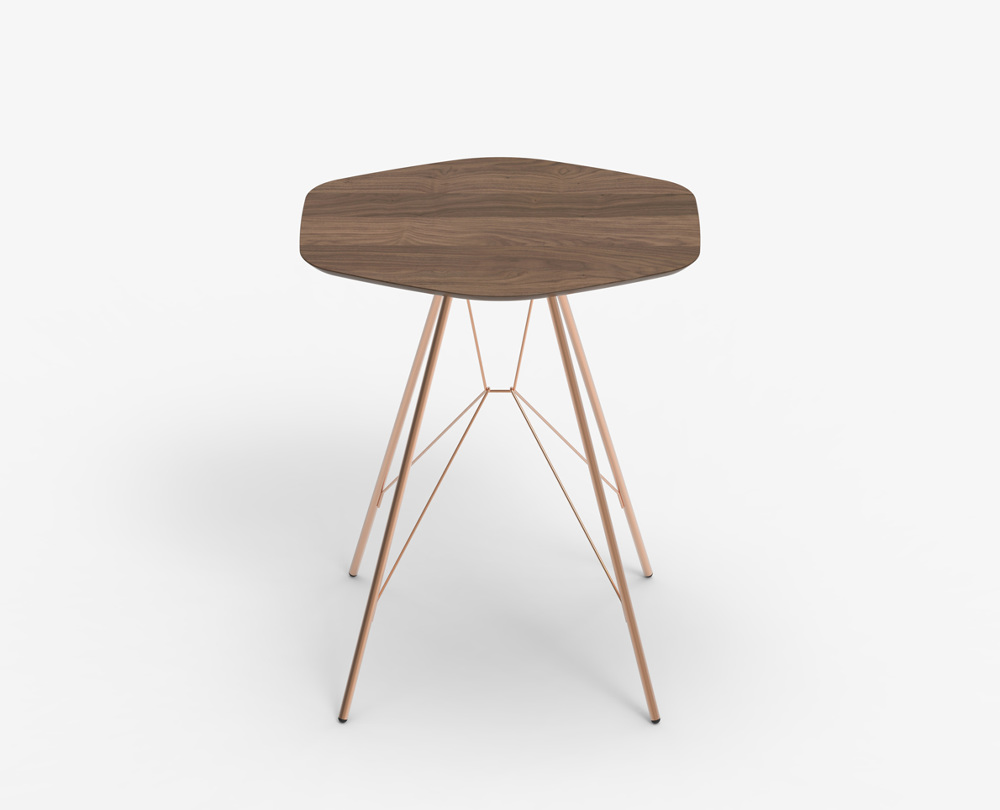 New emil side table wood for Table zanotta
